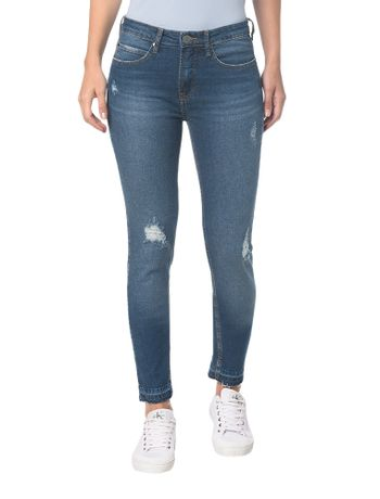 Calca-Jeans-Five-Pockets-Mid-Rise-Skinny----Azul-Medio---34