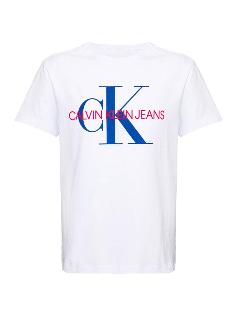 980c8ccf5d1a7e Camiseta Ckj Mc Est Ck - Branco 2