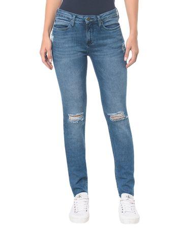 Calca-Jeans-Five-Pockets-Mid-Rise-Skinny----Azul-Medio---34