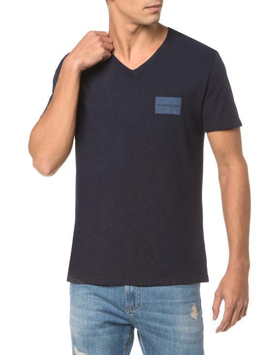 Camiseta-Ckj-Mc-Estampa-Quadrado-Peito----Marinho---PP