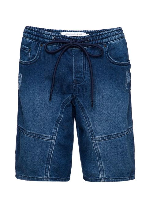 Bermuda Jeans Five Pockets  - Marinho