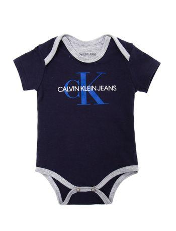 4175d1ff3edb Body M/C Ckj Silk Logo - Azul Marinho   Calvin Klein - Calvin Klein