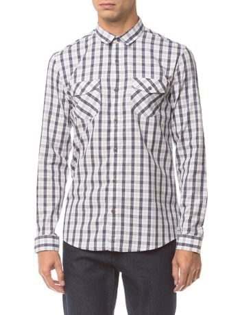 Camisa-Ml-Ckj-Masc-Xadrez-Etiqueta----Preto---P