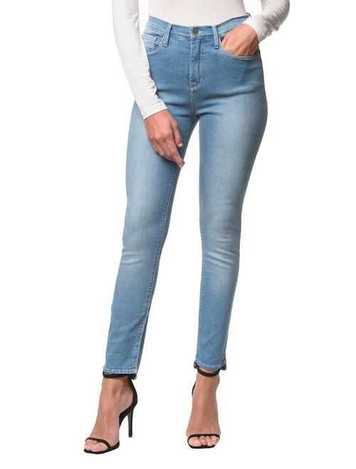 Calça Jeans Five Pockets Jegging High  - Azul Claro