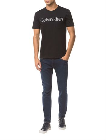 Camiseta-Slim-Calvin-Klein-Sobreposto-Bo----Preto---PP