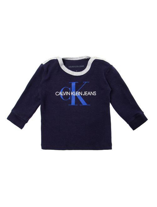Blusa M/L Ckj Logo Ck - Marinho