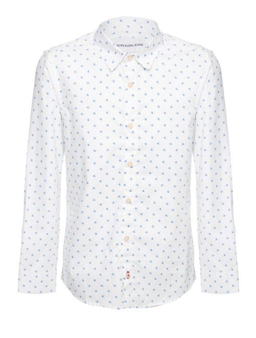 Camisa Ml Ckj Estampada Monogram - Branco 2