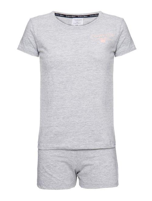 Pijama M/C E Short De Algodão - Mescla