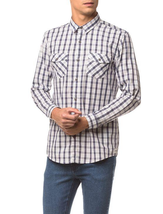 Camisa-Ml-Ckj-Masc-Xadrez-Etiqueta---Branco-2---P