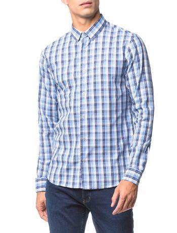 Camisa-Slim-Ml-Xadrez-Sport---Azul-Medio---3
