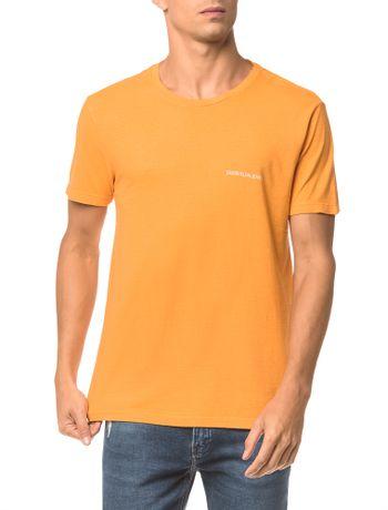 Camiseta-Ckj-Mc-Logo-Peito---Mostarda---P
