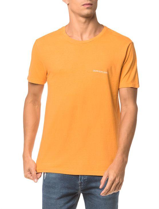 Camiseta-Ckj-Mc-Logo-Peito---Mostarda---PP