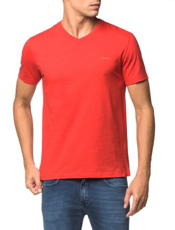 Camiseta-Flame-Slim-Calvin-Klein---Vermelho---PP