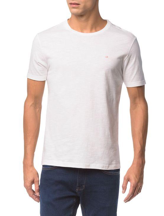 Camiseta-Slim-Careca-Flame-Calvin-Klein---Branco-2---M