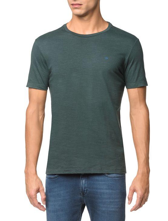 Camiseta-Slim-Careca-Flame-Calvin-Klein---Floresta---PP
