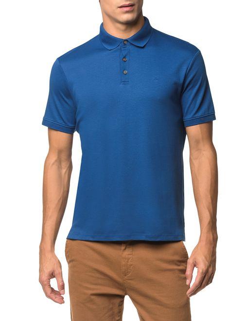 Polo Basica Liquid Cotton - Azul Médio