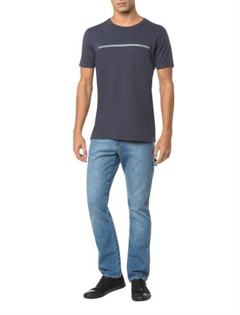 Camiseta-Ckj-Mc-Logo-Palito---Cinza-Azulado---PP