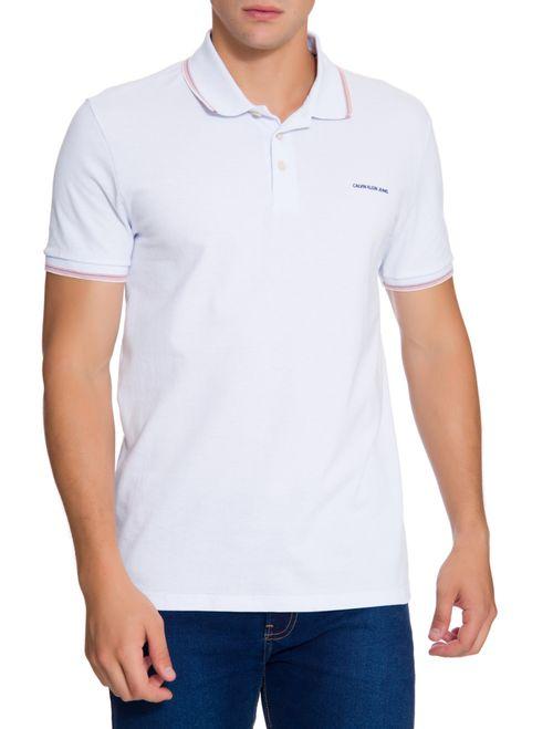 Polo Ckj Mc Est Logo Relevo Peito - Branco 2