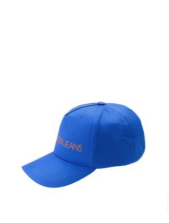 Bone-Ckj-Masc-Lona-Basico-Logo-----Azul-Medio----U