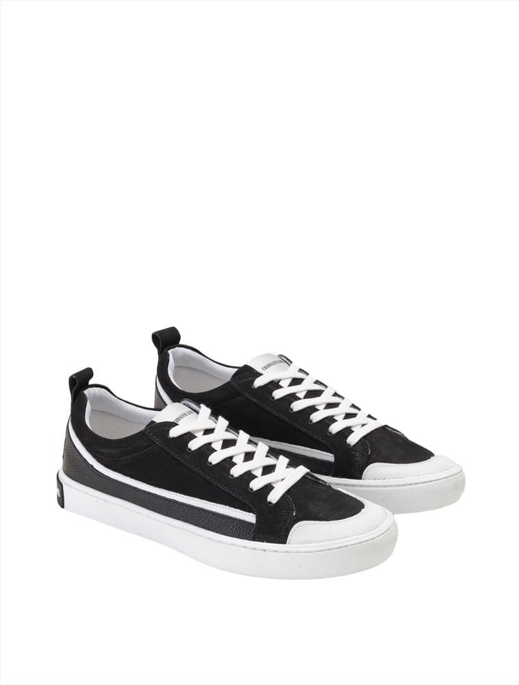 f9e7d4d8a Calvin Klein · Outlet · Acessórios · Calçados · Tenis -Ckj-Fem-Couro-Low-Skate-Sneaker---Preto-