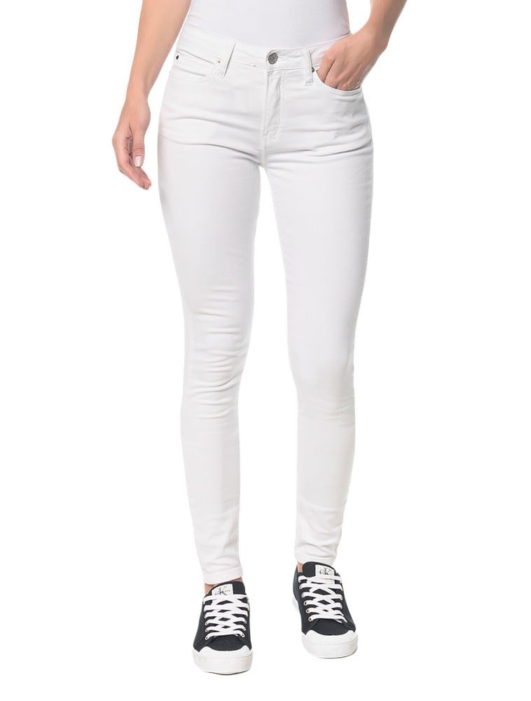fe100820a9 Calça Color Five Pockets Super Skinny - Branco 2 - Calvin Klein