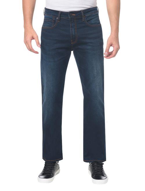 Calça Jeans Five Pockets Relexed Straigh - Azul Marinho