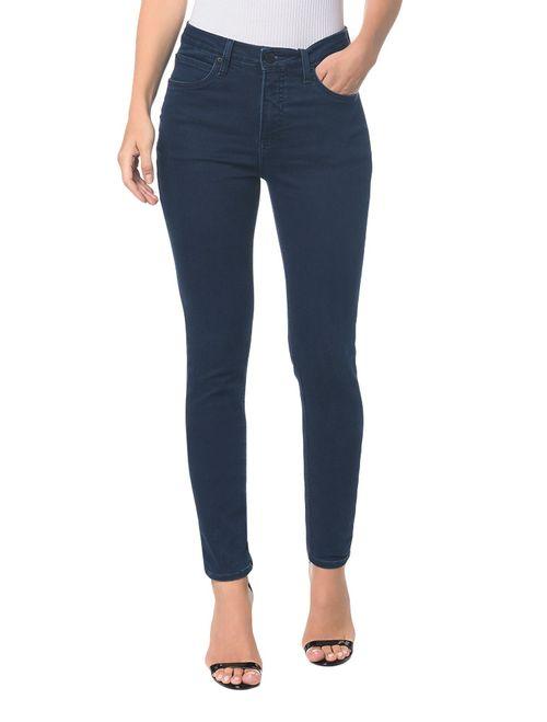 Calça Jeans  Five Pockets High Rise Skinny - Marinho