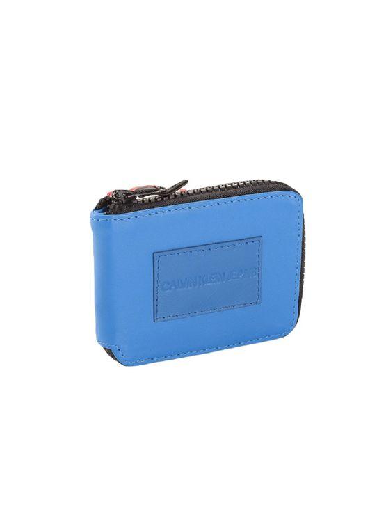 Carteira-Ziper-Ckj-Etiqueta-Couro---Azul-Medio-