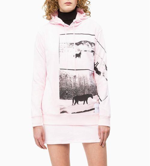 Casaco Ckj Fem Ml Com Capuz Andy Warhol - Rosa Claro