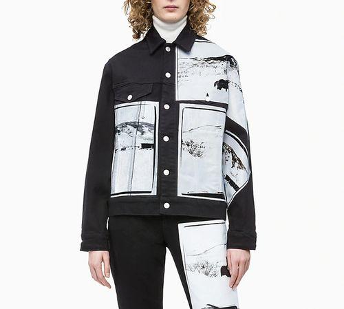Jaqueta Color Ckj Fem Andy Warhol - Preto