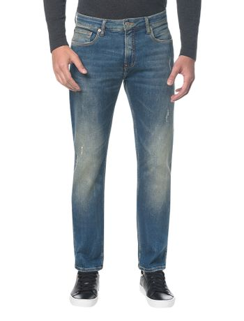 Calca-Jeans-Five-Pockets-Ckj-025-Slim-Straight---Azul-Medio---36