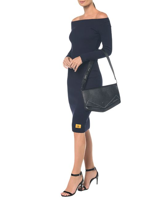 Bolsa Pocket Bag Couro Grande - Preto