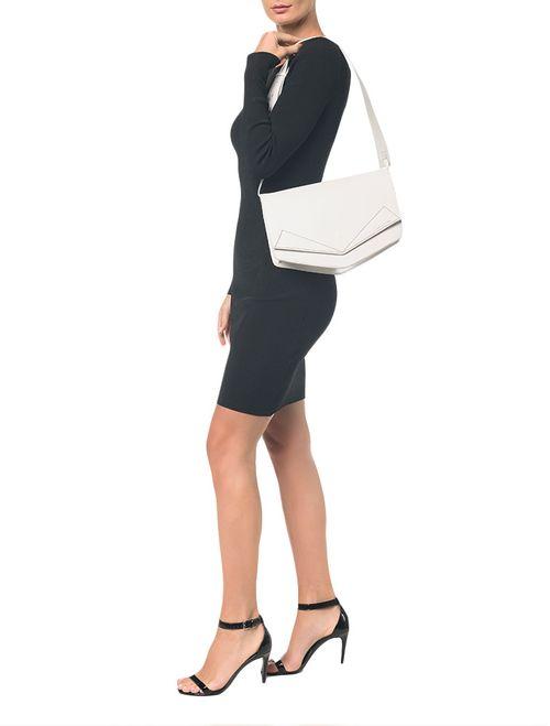 Bolsa Pocket Bag Couro Grande - Branco 2