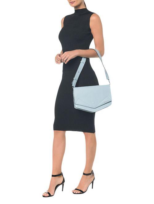 Bolsa Pocket Bag Couro Grande - Azul Claro