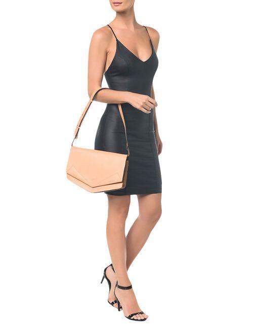 Bolsa Pocket Bag Couro Grande - Pessego
