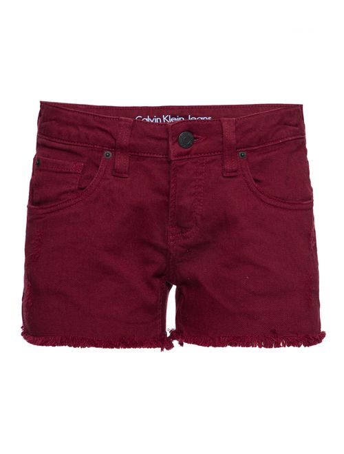 Shorts Color Five Pockets - Bordo