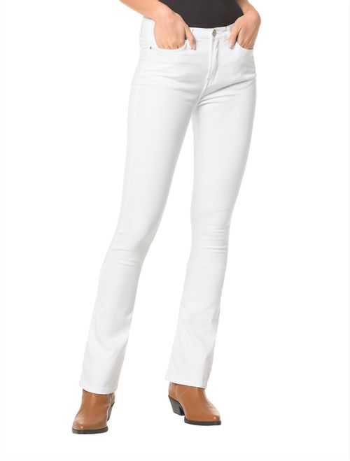 Calça Color Five Pockts Kick Flare - Branco 2
