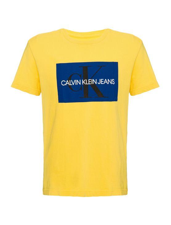Camiseta-Ckj-Mc-Est-Ck-Quadrado---Amarelo-Ouro---4