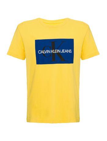 Camiseta-Ckj-Mc-Est-Ck-Quadrado---Amarelo-Ouro---6