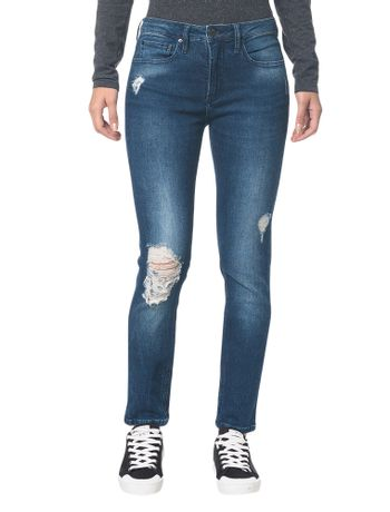 Calca-Jeans-Five-Pockets-Ckj-021-Mid-Rise-Slim---Marinho---34