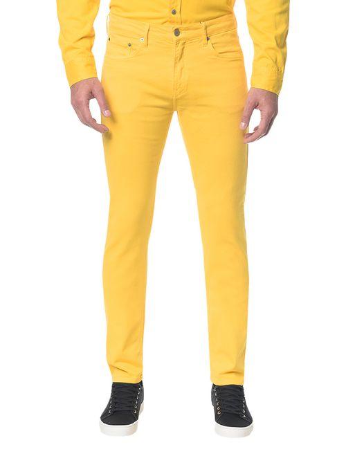 Calça Color Five Pock Slim - Amarelo Ouro