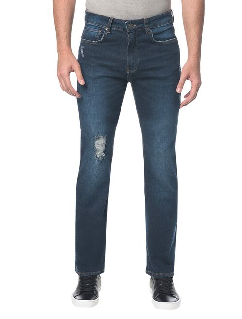 Calça Jeans Five Pockets Ckj 037 Relaxed Straight - Marinho