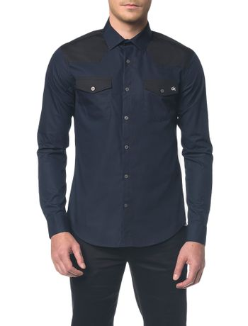 Camisa-Slim--Ml-Sport-Bicolor---Marinho---1