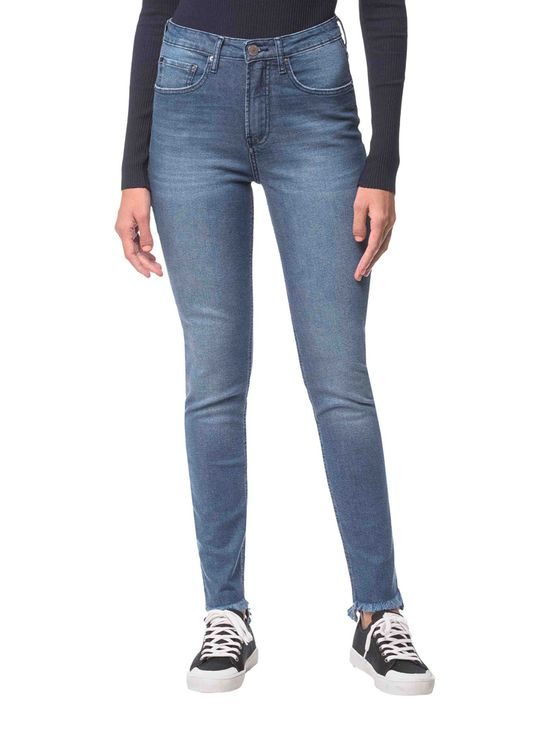 Calca-Jeans-Five-Pockets-Ckj-020-High-Rise-Slim---Azul-Medio---34