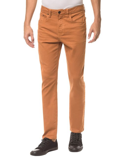 Calça Color Five Pockets Slim - Havana