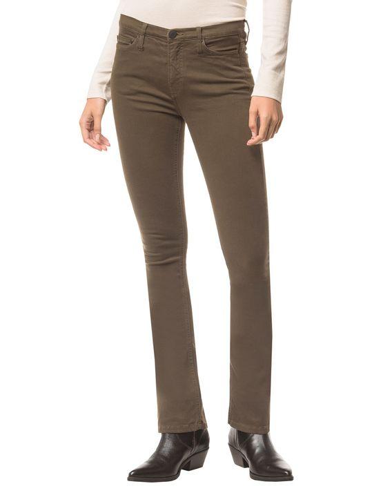 Calca-Jeans-Five-Pock-Kick-Flare---Oliva---34