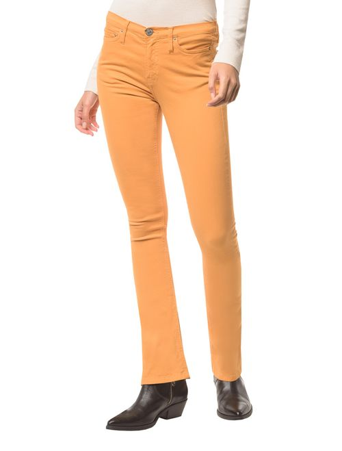 Calça Jeans Five Pock Kick Flare - Mostarda