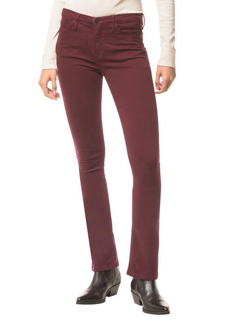 Calça Jeans Five Pock Kick Flare - Bordo