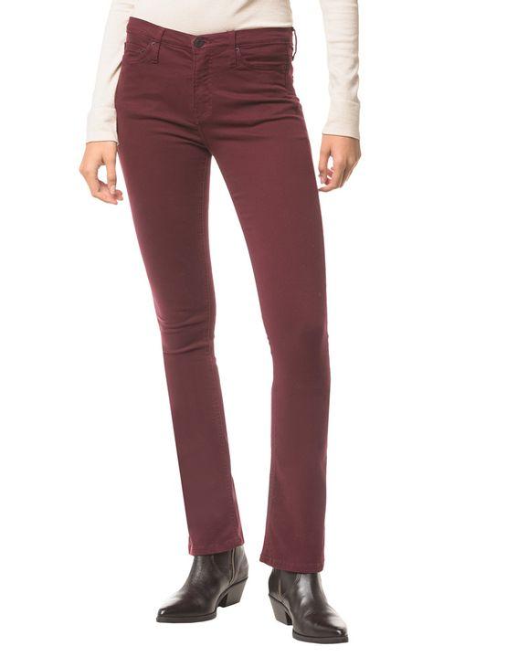Calca-Jeans-Five-Pock-Kick-Flare---Bordo---34