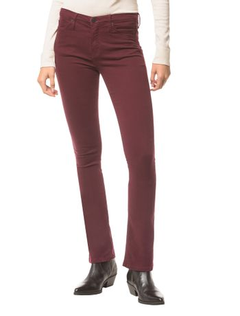 Calca-Jeans-Five-Pock-Kick-Flare---Bordo---36